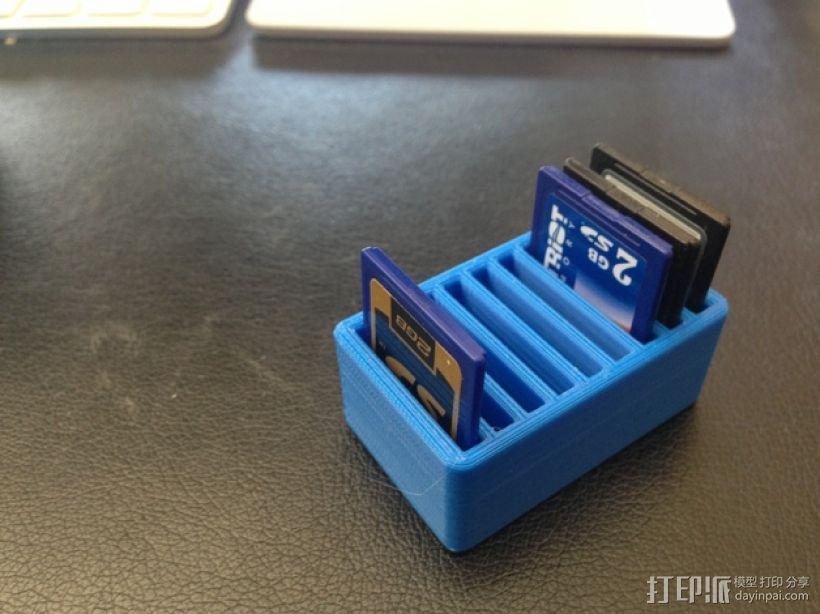 SD卡收纳盒 3D模型  图1