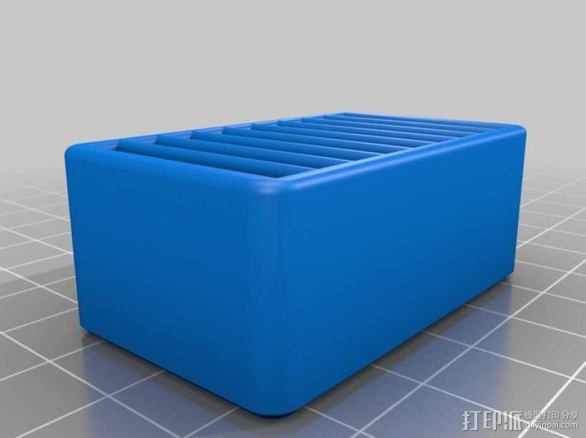 SD卡收纳盒 3D模型  图2