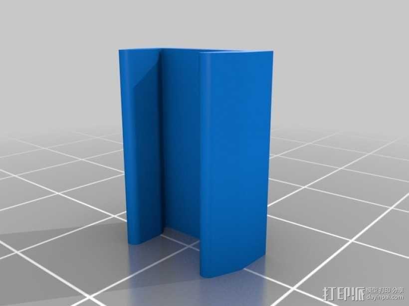 打印床固定夹 3D模型  图1
