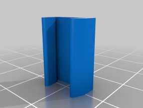 打印床固定夹 3D模型