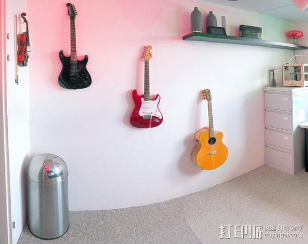 壁挂式吉他支架 3D模型  图4