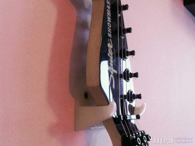 壁挂式吉他支架 3D模型  图1