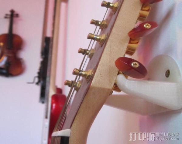 壁挂式吉他支架 3D模型  图2