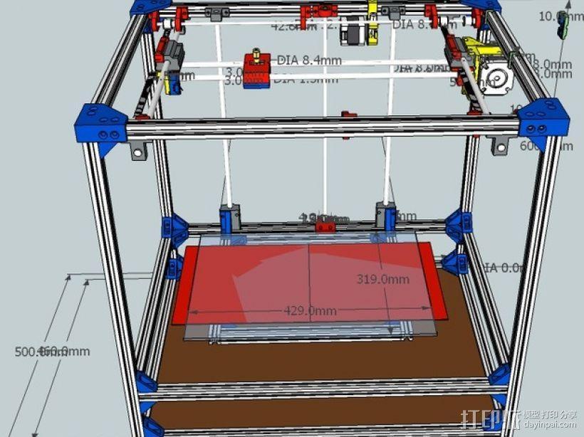 自制打印机 3D模型  图1