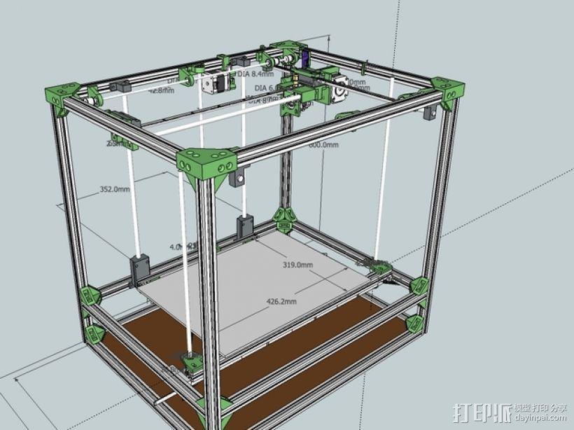 自制打印机 3D模型  图2