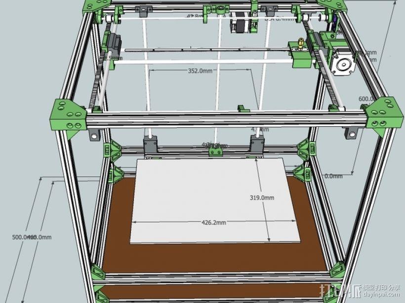 自制打印机 3D模型  图3