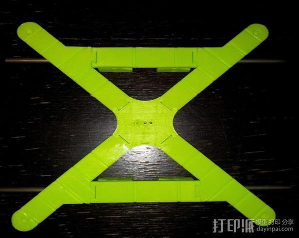 Mendel 门德尔打印机打印床框架 3D模型  图2