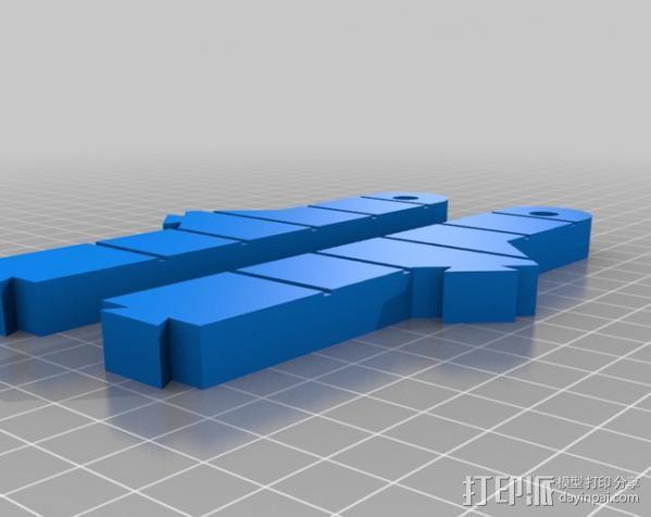 Mendel 门德尔打印机打印床框架 3D模型  图16