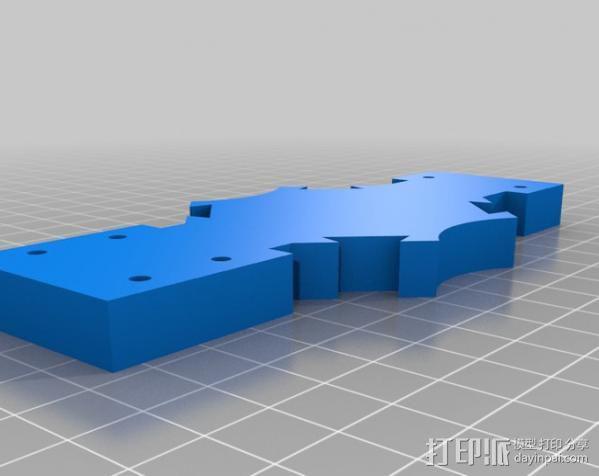 Mendel 门德尔打印机打印床框架 3D模型  图18
