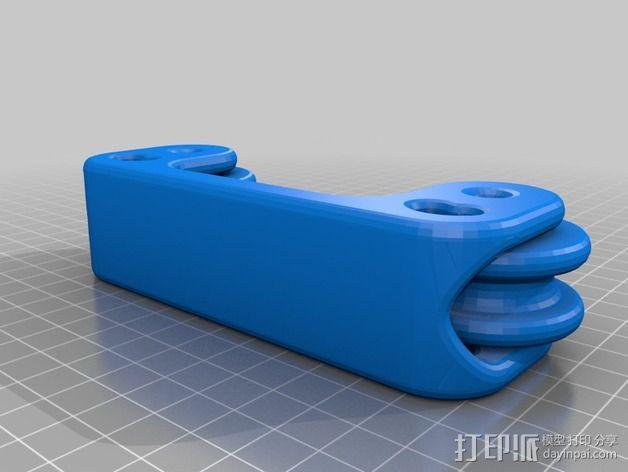 可调宽度的线材架 3D模型  图5