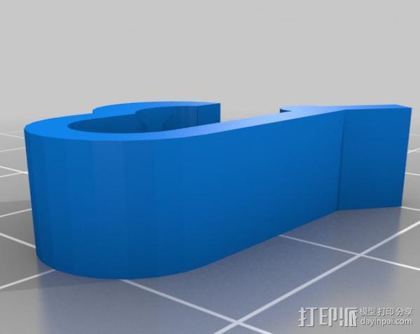 线圈夹 线材固定器 3D模型  图3