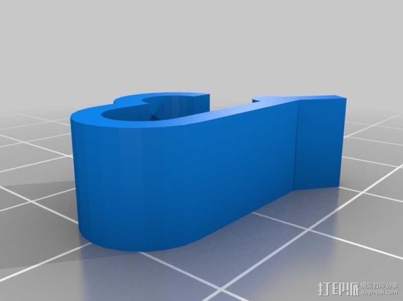 线圈夹 线材固定器 3D模型  图1