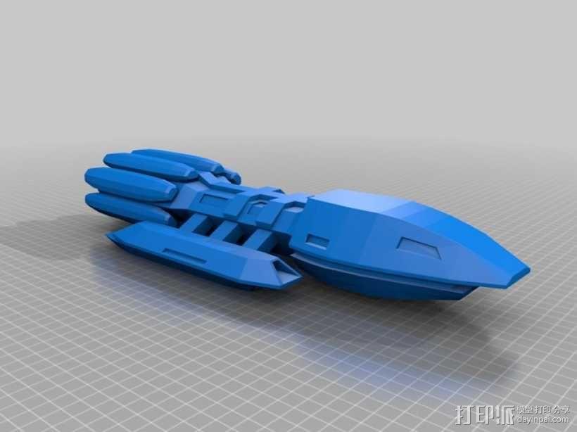 战舰 星际战舰 3D模型  图1