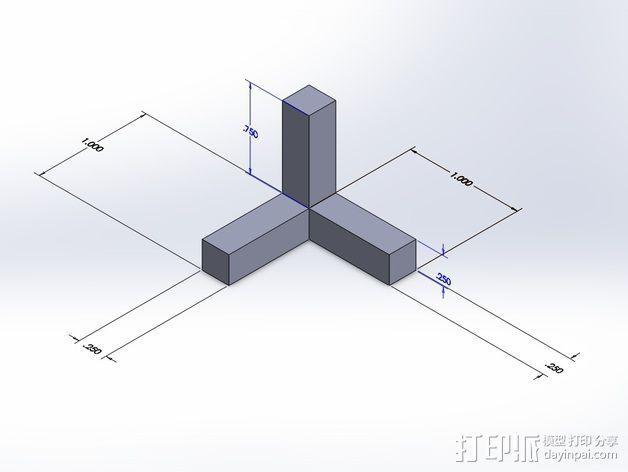 角度校准器 3D模型  图1