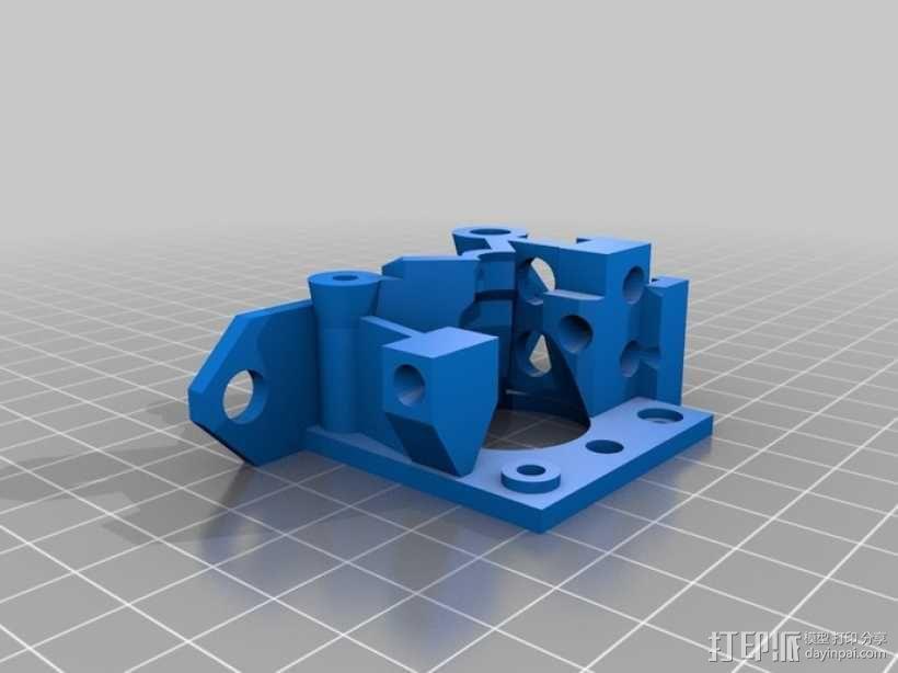 鲍登挤出机 3D模型  图2
