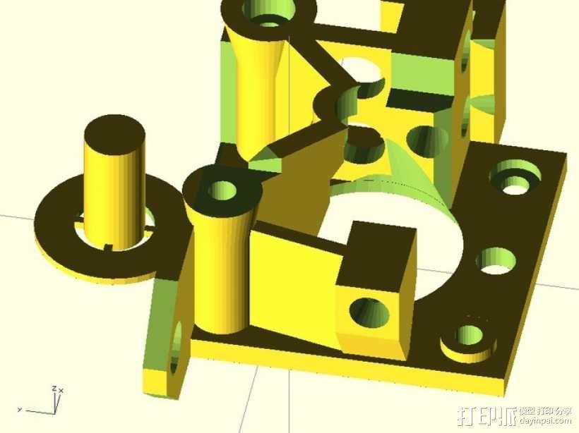 鲍登挤出机 3D模型  图10