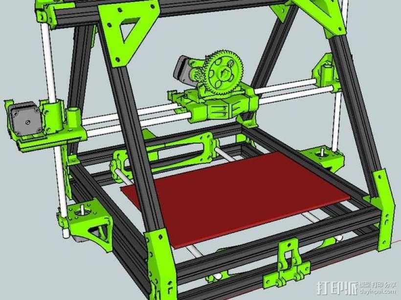 MendelMAX 打印机 3D模型  图1