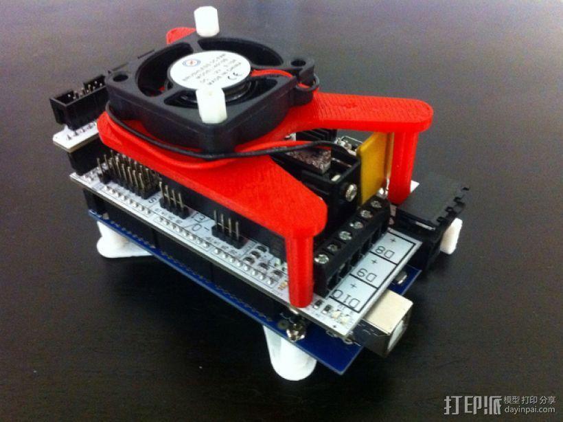 风扇架  风扇座 3D模型  图1