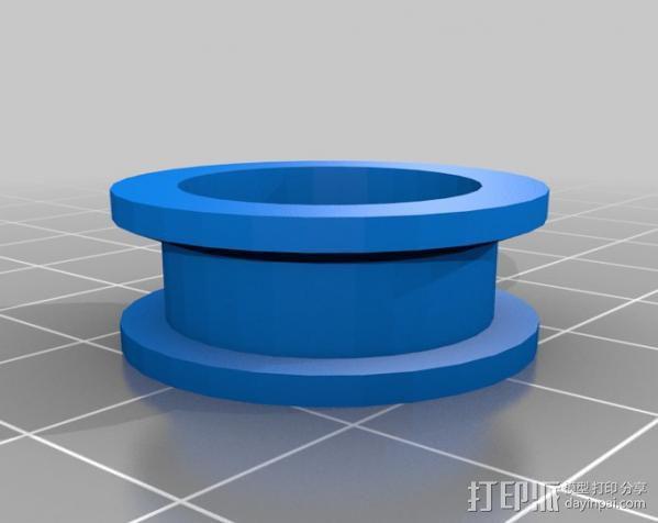 轴承惰轮 皮带滑轮 3D模型  图1