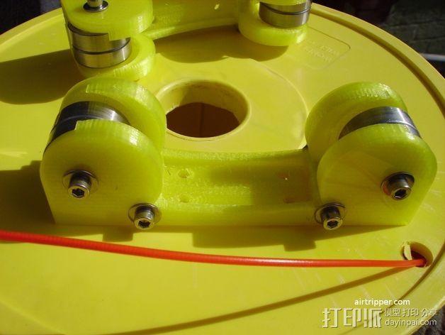 打印机线轴架 3D模型  图2