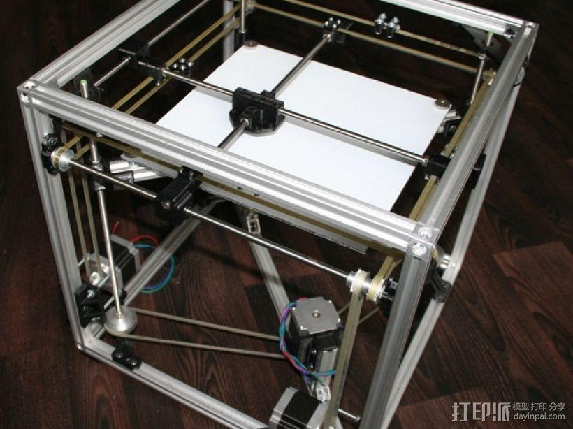 矩形盒式结构3D打印机 3D模型  图1