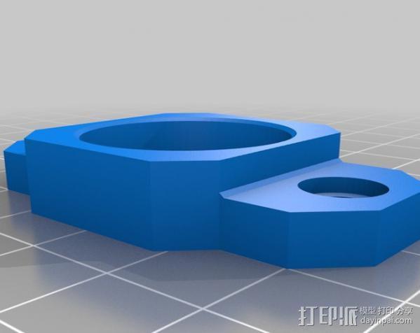 矩形盒式结构3D打印机 3D模型  图4