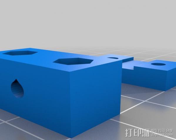 矩形盒式结构3D打印机 3D模型  图7