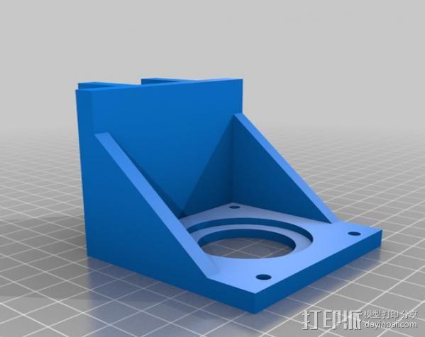 矩形盒式结构3D打印机 3D模型  图9