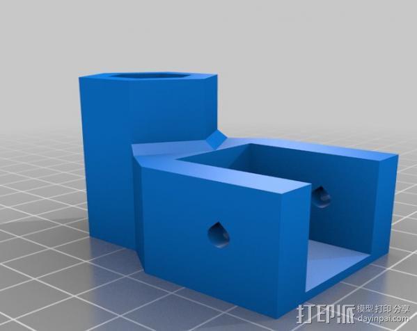 矩形盒式结构3D打印机 3D模型  图16