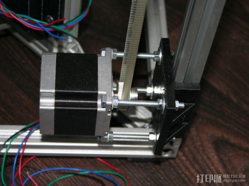 矩形盒式结构3D打印机 3D模型  图19
