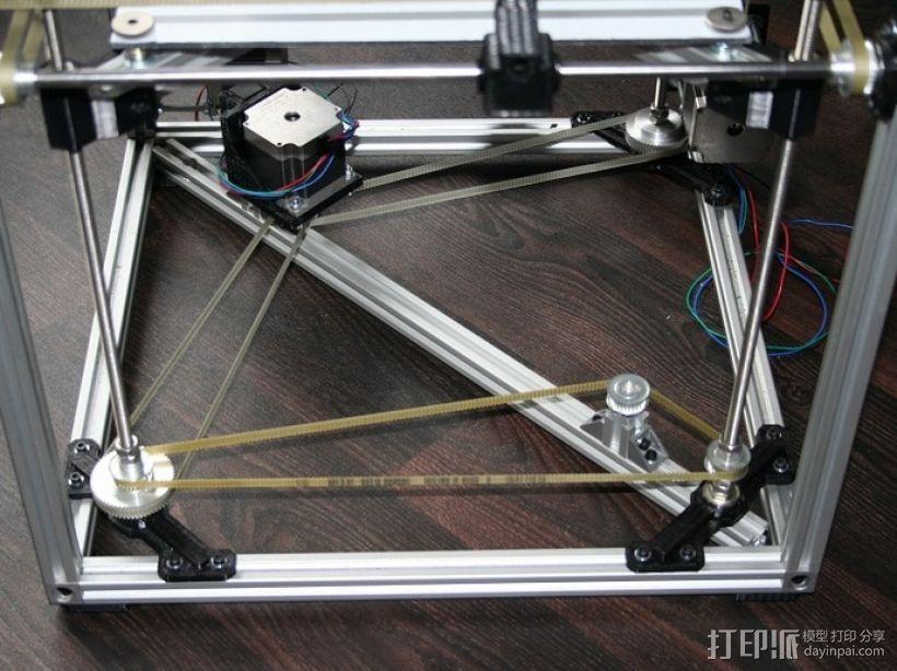 矩形盒式结构3D打印机 3D模型  图22