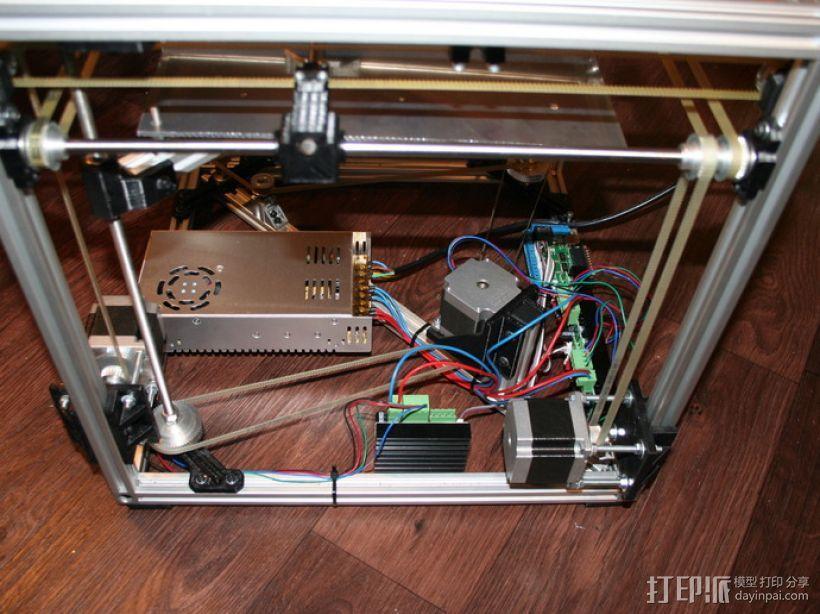 矩形盒式结构3D打印机 3D模型  图23