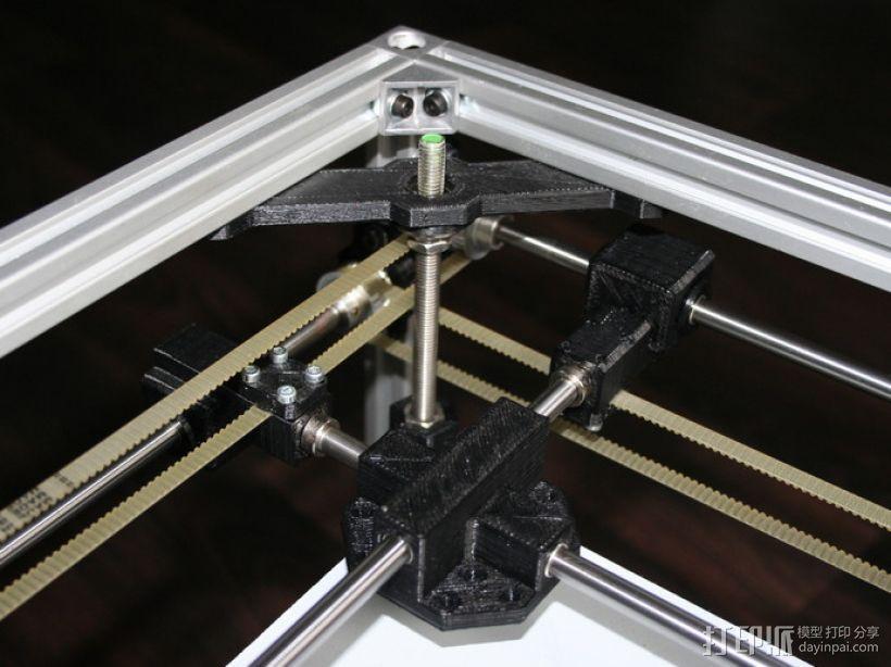 矩形盒式结构3D打印机 3D模型  图21