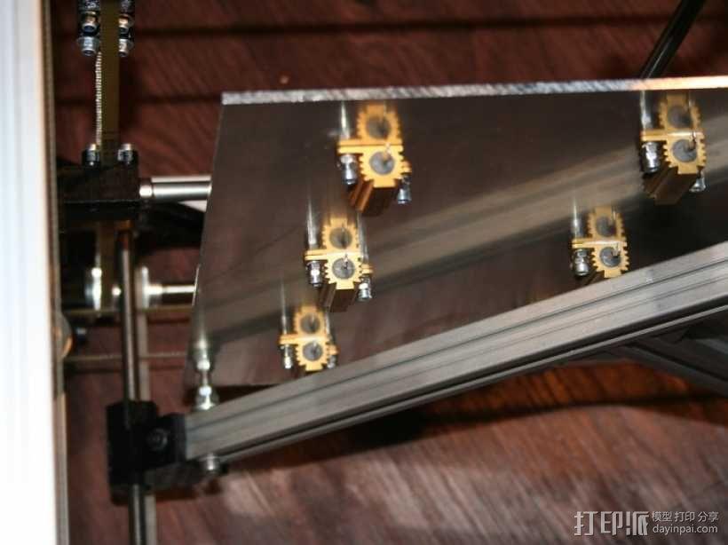矩形盒式结构3D打印机 3D模型  图24