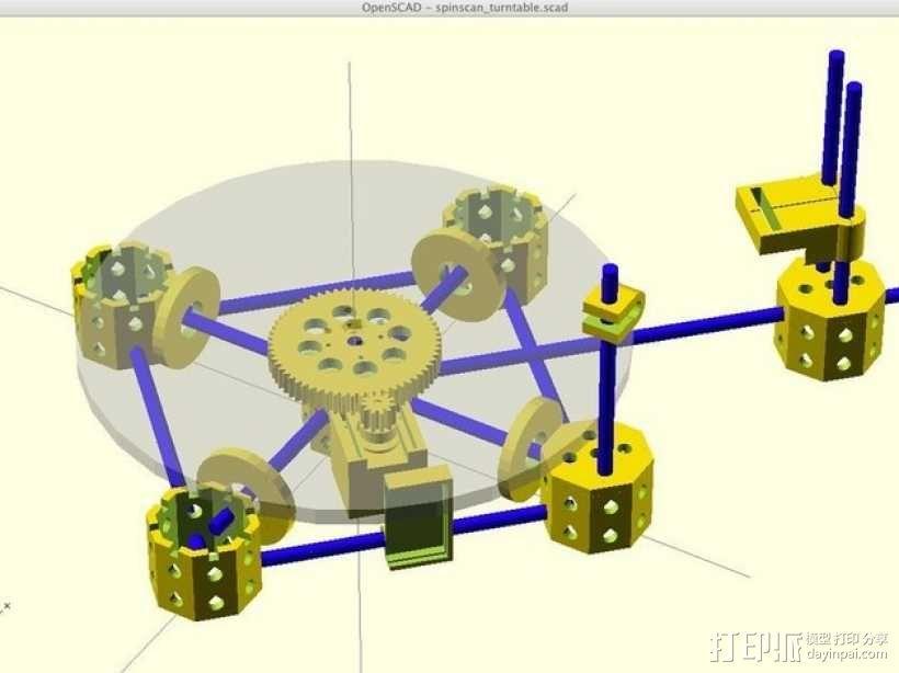 激光扫描仪 3D模型  图1