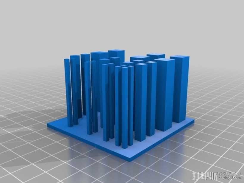 矩形方块打印测试 3D模型  图2