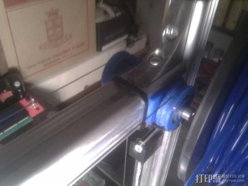 线材驱动轮 导线轮  3D模型  图1