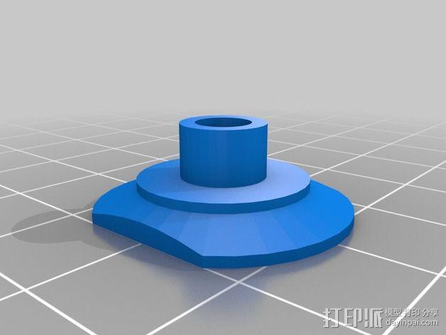 线材驱动轮 导线轮  3D模型  图5