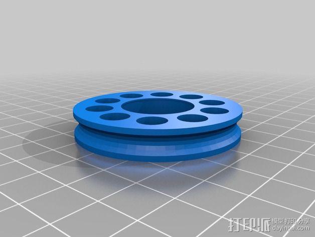 线材驱动轮 导线轮  3D模型  图9