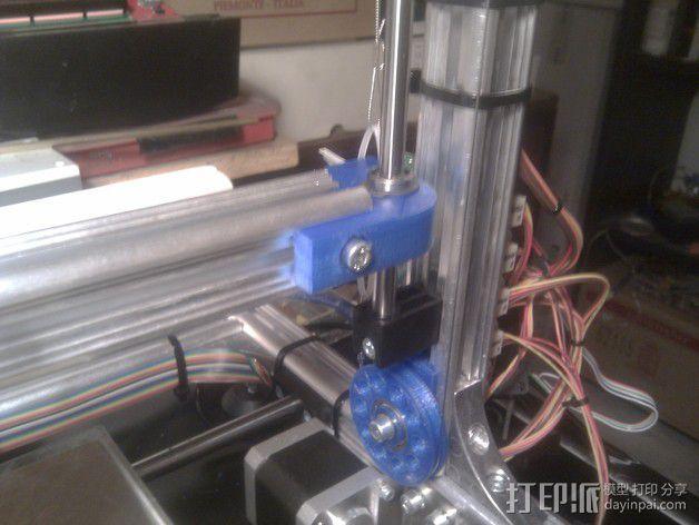 线材驱动轮 导线轮  3D模型  图13