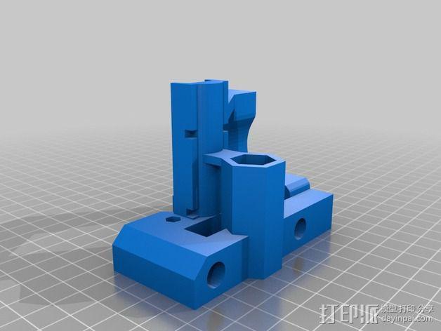 Prusa I2打印机X轴连接器 3D模型  图1