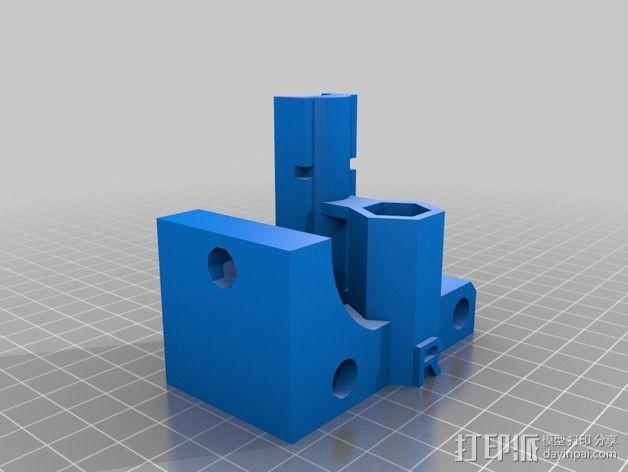Prusa I2打印机X轴连接器 3D模型  图2