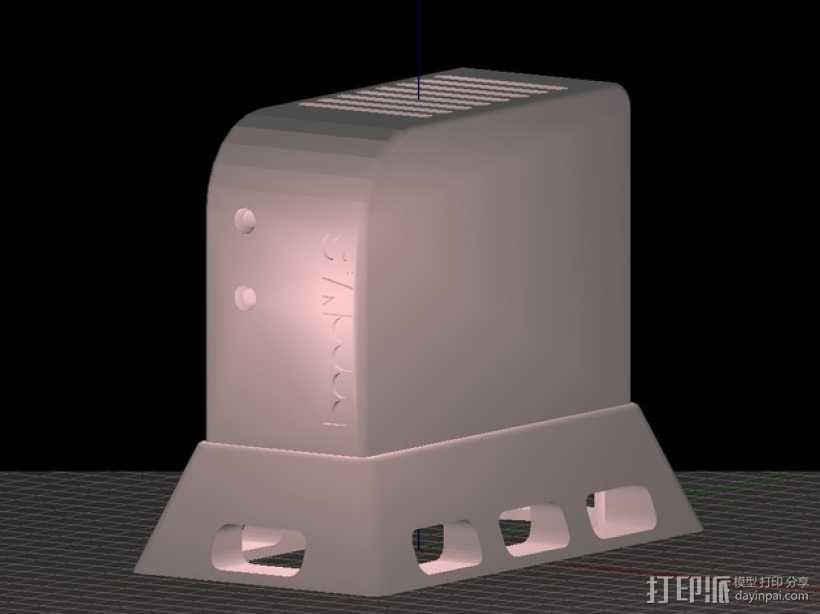 香蕉派单板电脑保护外盒 3D模型  图1