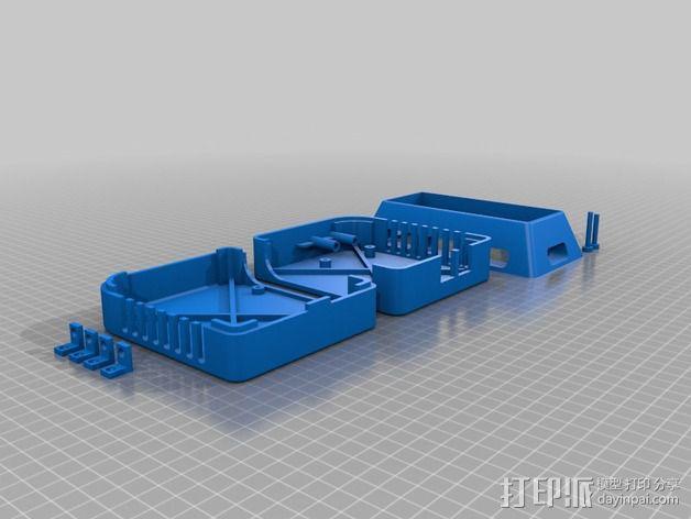 香蕉派单板电脑保护外盒 3D模型  图5