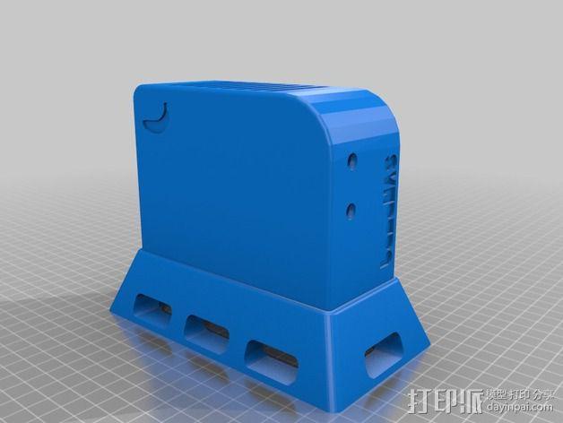 香蕉派单板电脑保护外盒 3D模型  图10