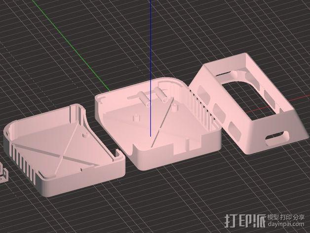 香蕉派单板电脑保护外盒 3D模型  图11
