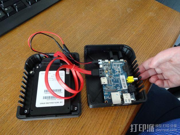 香蕉派单板电脑保护外盒 3D模型  图15