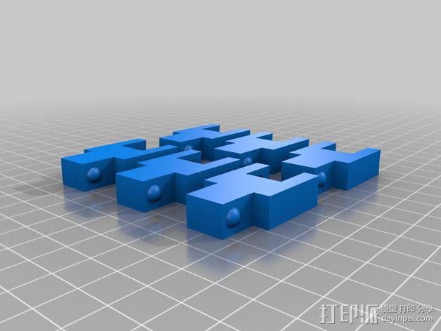 链条 链锁 3D模型  图2