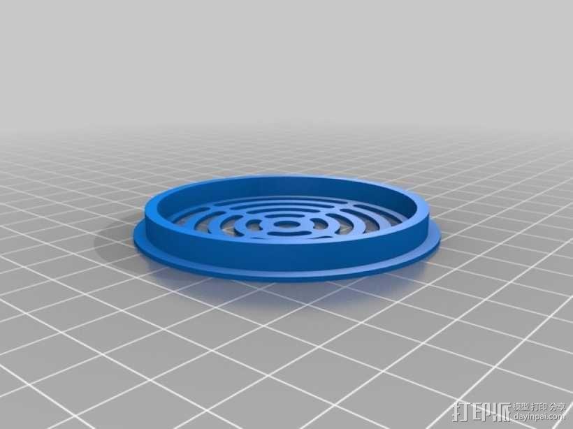 扇形孔覆盖罩 3D模型  图2