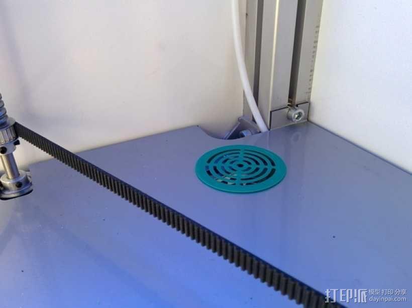 扇形孔覆盖罩 3D模型  图1